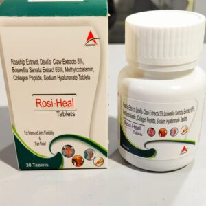 Rosehip Extract 275mg+Devil's Claw Extract 5% 100mg+Boswellia Serrata Extract 65% 307.5mg. Methylcobalamin 750mcg+Collagen Pepptide type II 40mg+Sodium hyaluronate 30mg